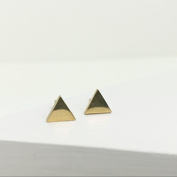 CLOSET REHAB Jewelry - RESTOCKED Gold Triangle Studs